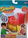 Skwooshi Car and Rocket Vehicle Action Set (Red & Yellow)