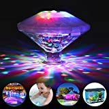 Swimming Pool Lights Floating Underwater LED Pond Lights for Hot Tub, Baby Bathtub, Fountain, Disco Pool Party or Pond Decorations - 7 Modes, Waterproof, Battery Operated
