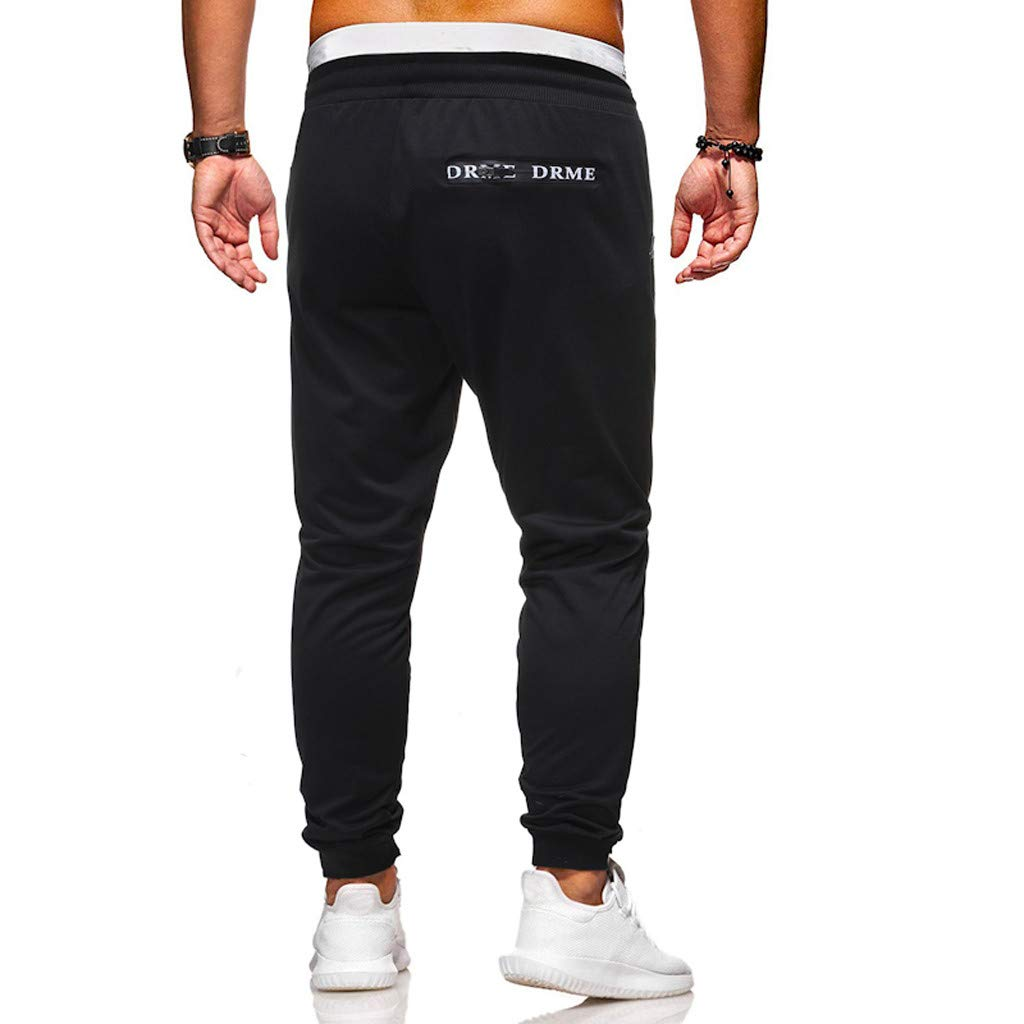Men's Elastic-Waist Drawstring Pants Trouser Outdoor Hiking Sweatpants for Sport Exercise Travel,Quick-Dry,Stretch with Pockets S-2XL by VEZARON (Image #4)