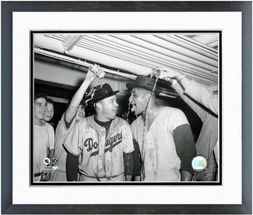 Duke Snider & Don Newcombe Brooklyn Dodgers 1955 World Series Framed Photo 12x15