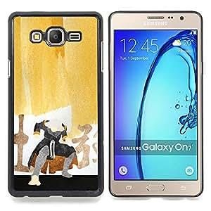 """Qstar Arte & diseño plástico duro Fundas Cover Cubre Hard Case Cover para Samsung Galaxy On7 O7 (Pintura del samurai"""")"""