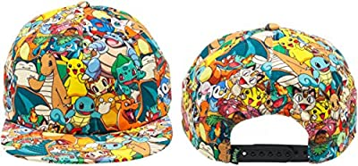 BIOWORLD Pokemon All Over Print Sublimated Snapback Cap Hat by Japan VideoGames