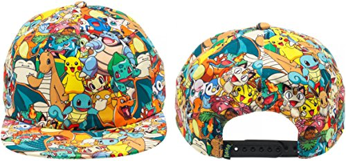 Pokemon Clothing (BIOWORLD Pokemon All Over Print Sublimated Snapback Cap Hat)