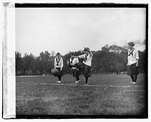 Vintography 16 x 20 Reprinted Old Photo ofGirl soccer 1919 National Photo Co 48a by Vintography