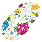 Bligli Bathtub Mat Baby Kids Bath Mat Anti-Slip Mat Cartoon Non-Slip Bath Mat Massage Shower Mat with Suction Cups Children 39 x 69 cm