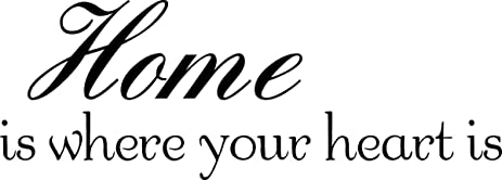 Amazoncom Home Is Where Your Heart Is Wall Quote Wall Decals Wall