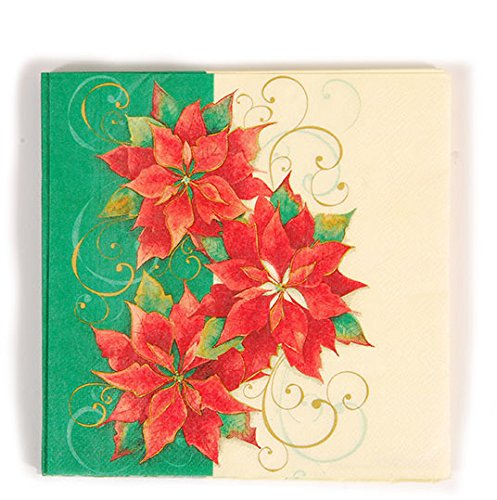 - DD Poinsettia Printed Luncheon Napkins(pack Of 36)