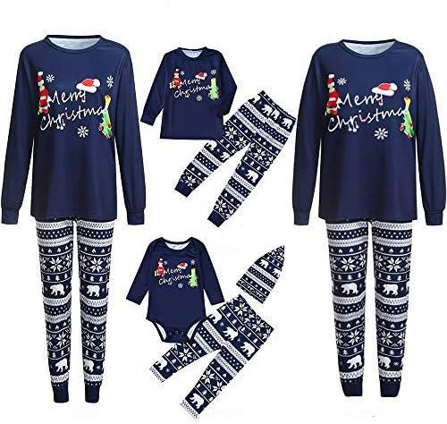 Pijamas de Navidad Familia Hombre Papá Dibujos Animados Letra ...
