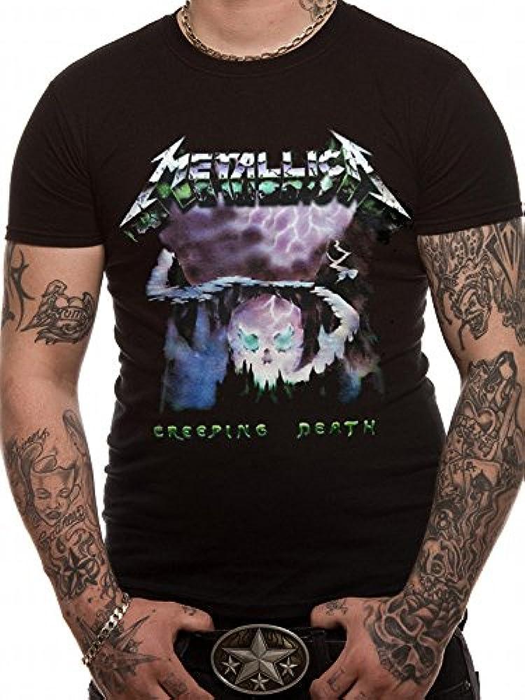 CID Metallica-Creeping Death Camiseta, Negro (, S para Hombre: Amazon.es: Ropa y accesorios