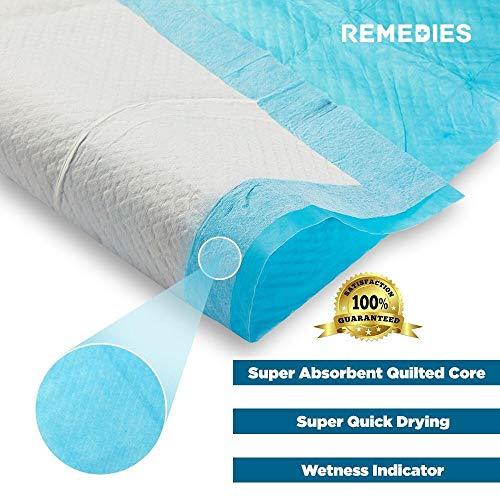 REMEDIES - Empapadores desechables para incontinencia - Empapadores super-absorbentes, 60 X 90 cm, 60 Gram, 150 unidades - 3 bolsas de 50: Amazon.es: Salud ...