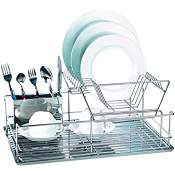 Amazon Com Euroware Modern Stainless Steel 2 Tier Dish
