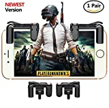 Mobile Game Controller[Upgraded Version] CIKE,Sensitive Shoot and Aim Buttons L1R1 for Knives Out/PUBG/Rules of Survival, Mobile Gaming Joysticks for Android IOS(1 Pair/black) Review