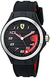 Ferrari Men\'s 0830012 Lap Time Analog Display Quartz  Black Watch