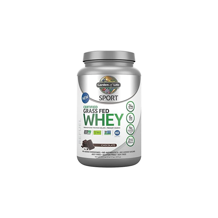 Garden of Life Sport Certified Grass Fed Whey Protein Powder