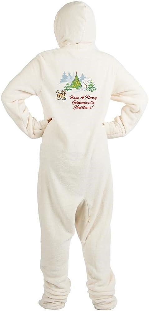 Goldendoodle Christmas Novelty Footed Pajamas CafePress Funny Adult One-Piece PJ Sleepwear