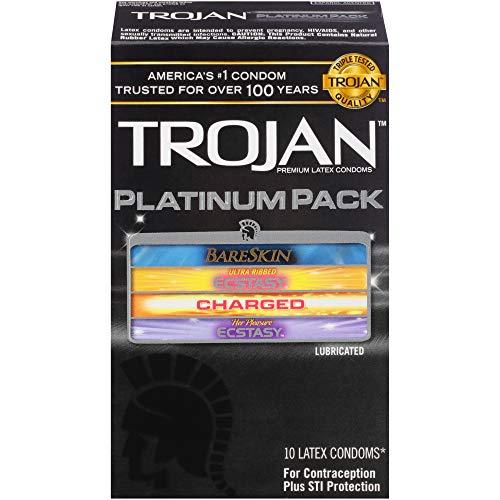 Trojan Platinum Pack Lubricated Condoms, 10ct