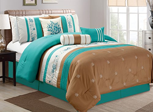intended with throughout set comforter shams sets collection blue seashell coastal beach for aqua f regard household renovation queen fish tropical sheets navy quilt to themed
