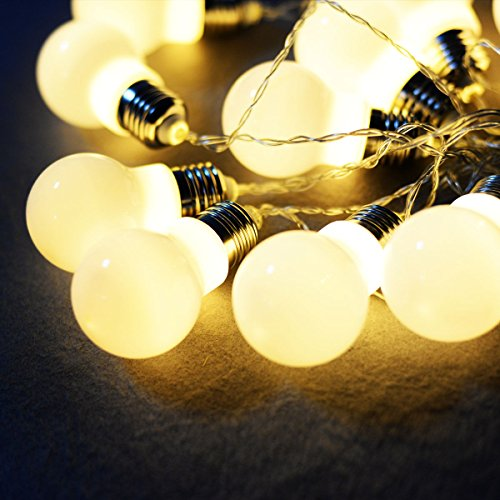 MasterPanel - Christmas 30LED 30ft String Ball Lights Xmas Wedding Party Decor Fairy Lamp Warm White #TP3392 30' Corvette