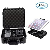 TopTops Waterproof Hardshell Carry Case Box, Coming with A Mavic Pro Phone Tablet Holder for Remote Controller