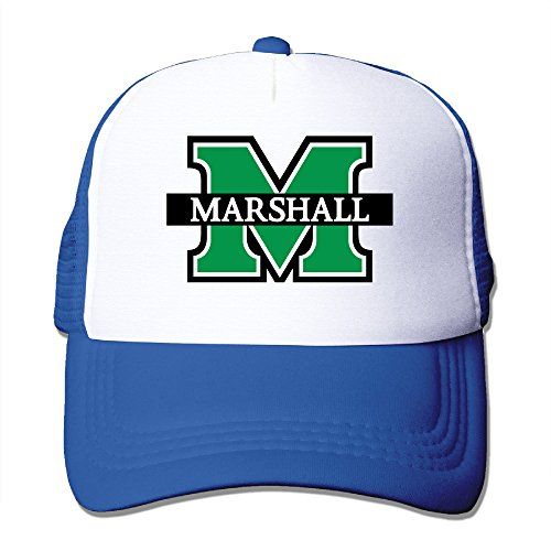[Candi Men's Marshall University Logo Hat Sports Running Flexfit Size One Size RoyalBlue] (Lsu Mascot Costume)