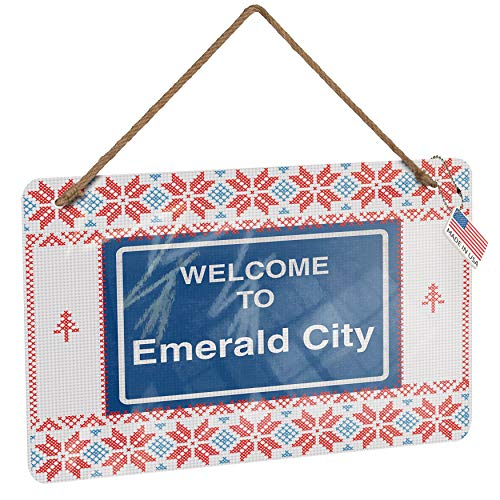 (NEONBLOND Metal Sign Sign Welcome to Emerald City Vintage Christmas Decoration)