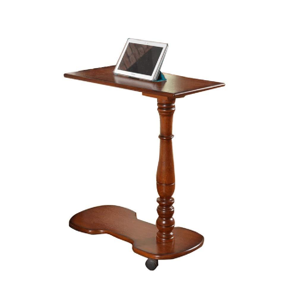 DUXX Tisch, Abnehmbarer Nachttisch Aus Massivem Holz, Notebook, Multifunktionaler Wohnzimmer-Computertisch Computerständer