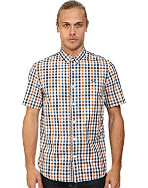 Men's Three Color Gingham Shirt