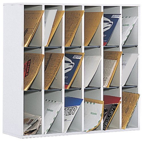 Wood 18 Compartment Mail Sorter - 1