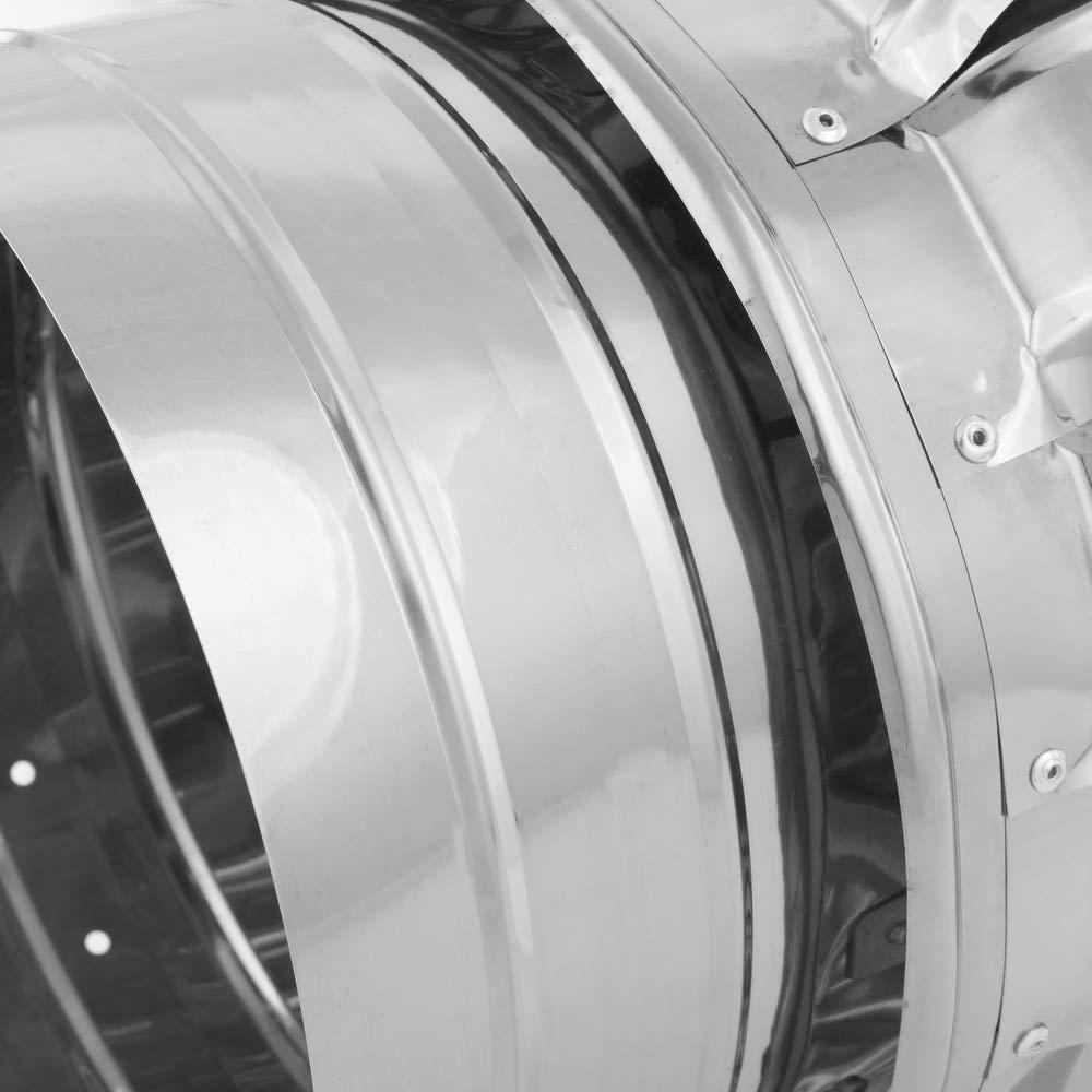 PrimeMatik Extracteur de fum/ées Rotatif galvanis/é pour po/êle pour Tube de 350 mm de diam/ètre