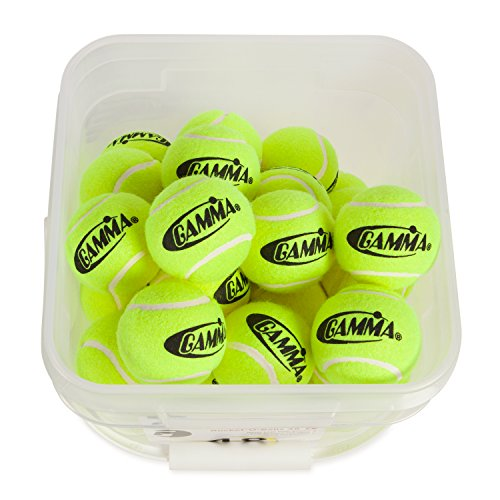 090852772996 - GAMMA Pressureless Tennis Ball Bucket| Case w/48 Practice Balls| Sturdy/Reusable/Portable Bucket to Replace Less Durable Tennis Mesh Bags| Ideal For All Court Types| Gamma Premium Tennis Accessories carousel main 4
