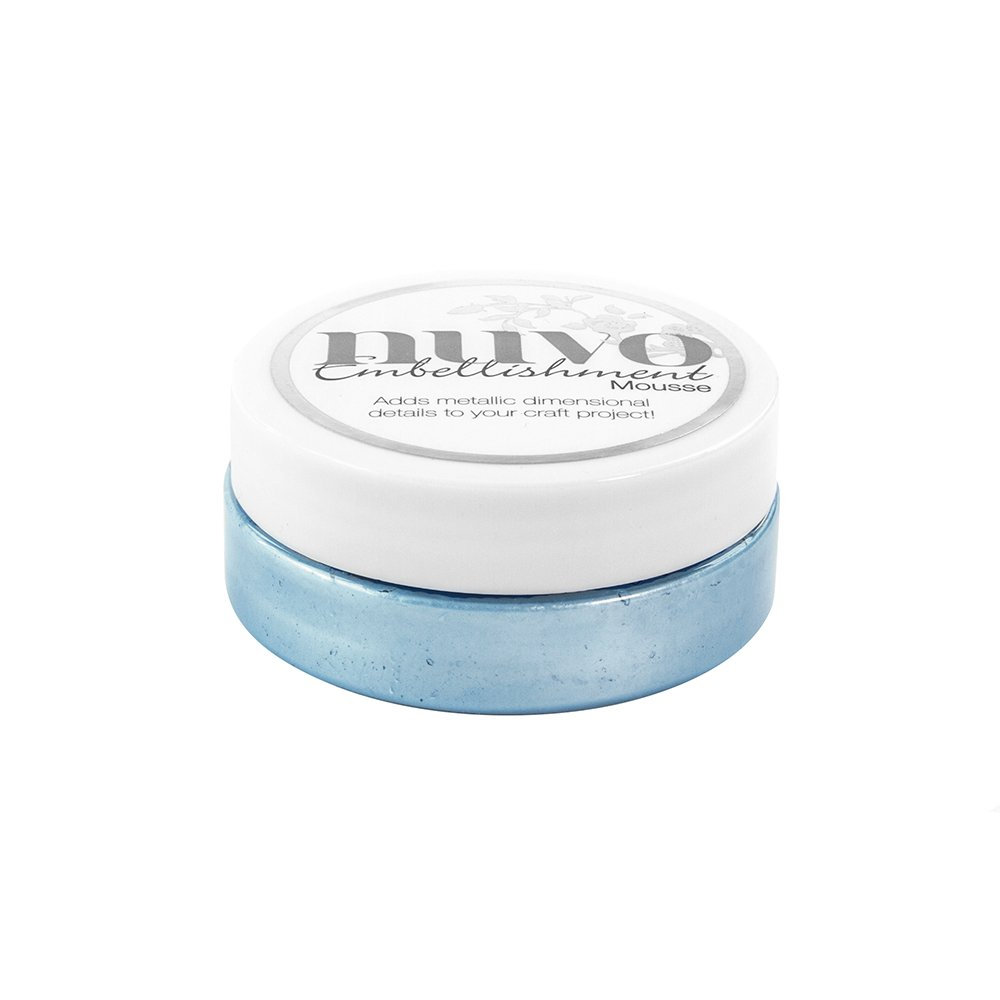 Tonic Studios 806N Mousse D/écorative Vinyle Acrylique Emulsion//Bentonite//Glyc/érol//Disperser//Pr/éservative//Mica Cornflower Blue 7 x 7 x 3,1 cm