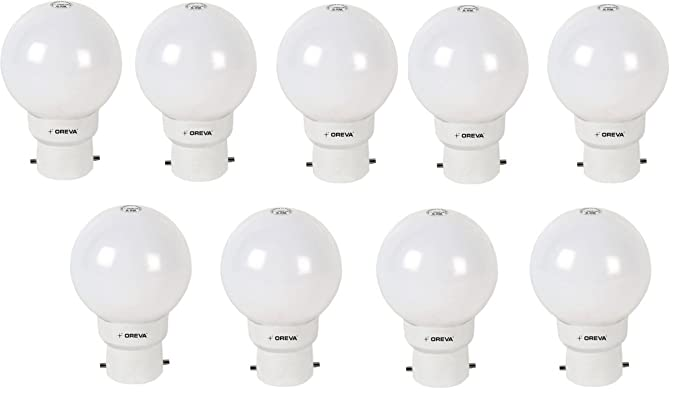 Oreva 1w Mini 9 Base B22 1 Watt Led Bulb Pack Of 9 White