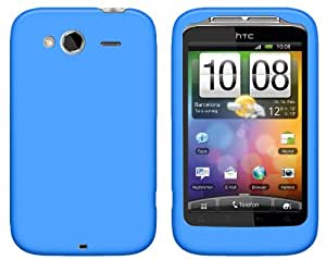 4-Ok FSHWSA - Funda silicolor para HTC Wildfire S/G13, color azul