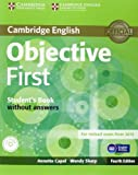Objective First Student's Book Without Answers with CD-ROM, Annette Capel and Wendy Sharp, 1107628342