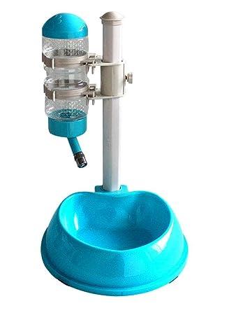 Dispensador de comida de bebedor de bolos de perro gato Dispensador automático de agua, salida ajustable , blue: Amazon.es: Deportes y aire libre