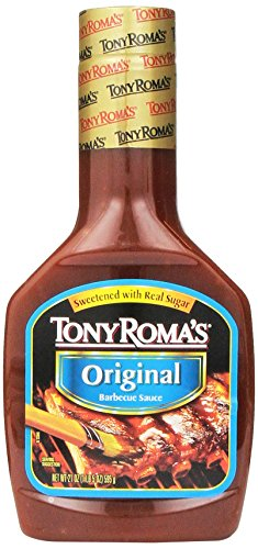 Tony Roma's Barbecue Sauce Original, 21-Ounce Unit (Pack of 6) (Sauce Bbq Roma Tony)