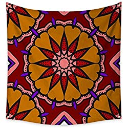 Tapestry for Teen Girls Multicolor Geometric Fantasy Seamless Vector Illustration for Fashion Design Templates Wallpaper Beach Throw Tapestry 32W x 32L Inch