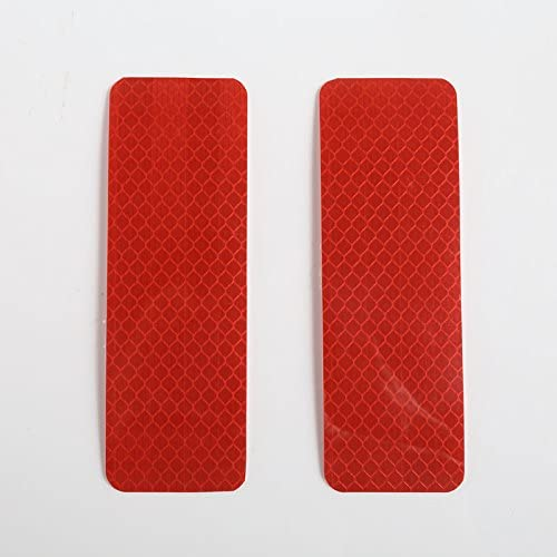 Sedeta/® rot Vordere und hintere Sto/ßstange reflektierende Aufkleber Warnstreifen Stamm reflektierende Reflektor wheelbru