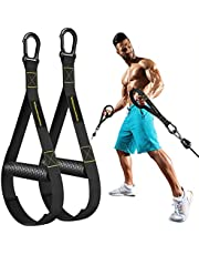 RENRANRING Resistance Bands Handles – Heavy Duty Exercise Handle for Cable Machine Attachments, Upgraded Grip Wide Design Gym Cable Handles with Solid ABS Cores for Exercise Bands Workout…