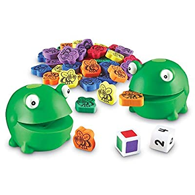 Learning Resources Froggy Feeding Fun Activity Set, Fine Motor Toy, 65 Pieces, Ages 3+: Toys & Games