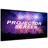 AZONE1 Portable Projector Screen 100 inch,Outdoor Projector Screen Foldable HD Video Movie Projection Screen Home Theater TV Gaming -Works 4K DLP LED LCD Mini Projectors (100inch) (100inch-pack)