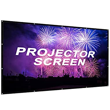 Portable Projector Screen 100 inch,Outdoor Projector Screen Foldable HD Video Movie Projection Screen for Home Theater TV Gaming -Works with 4K DLP LED LCD Mini Projectors (100inch) (100inch-pack)