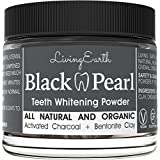Black Pearl Activated Charcoal Teeth Whitening - Organic Coconut Charcoal - Freshens Breath - Remineralizing Tooth Powder - Anti-Bacterial - Made In USA - Glass Jar