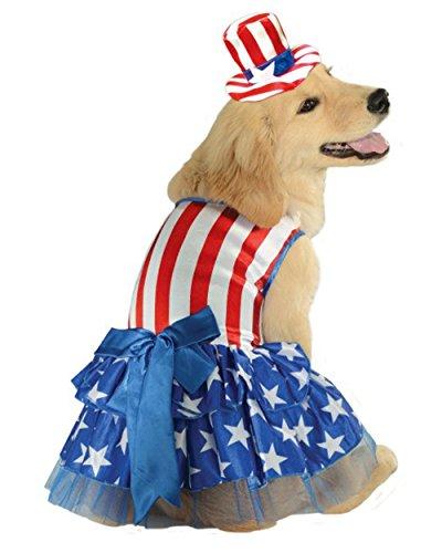 [Rubie's 4th of July Pet Costume, Medium, Patriotic Pooch Girl] (Maltese Dog Costumes)