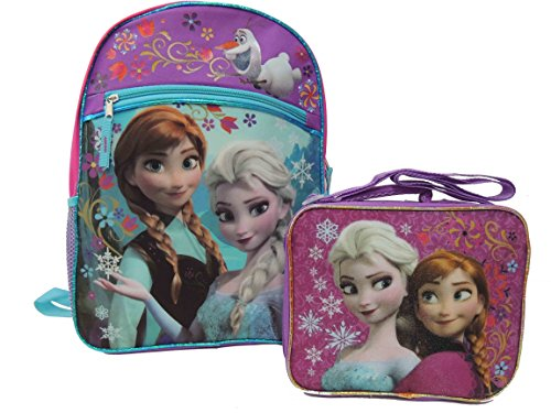 Price comparison product image Disney Frozen Large Backpack with Frozen Lunch Box