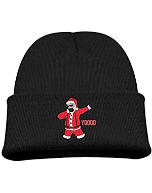 Dabbing Santa Unisex Baby Boys Casual Knit Beanie Hat