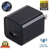 NANNY CAM USB PHONE CHARGER - 32 GB Internal Memory - 1080P HD Hidden Camera - iPhone Android - Home Security - Hotel Surveillance - Motion Detection - High Definition - Wireless - Mini - FreedomFox