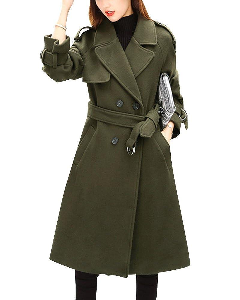 Femme Manteau Parkas Trench-Coat Capuche Veste Épaise Manches Longues Coat Manteaux Chaud Outwear