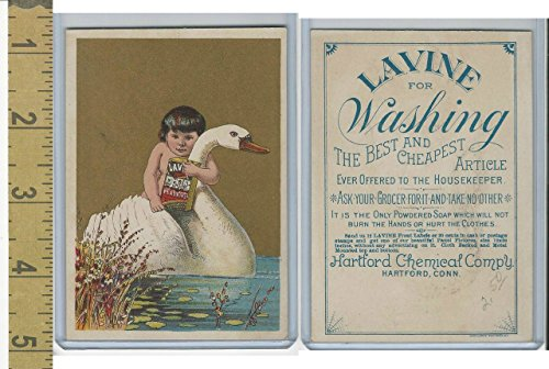 Victorian Card  1890S  Hartford Chemical  Conn   Child Holding Swan