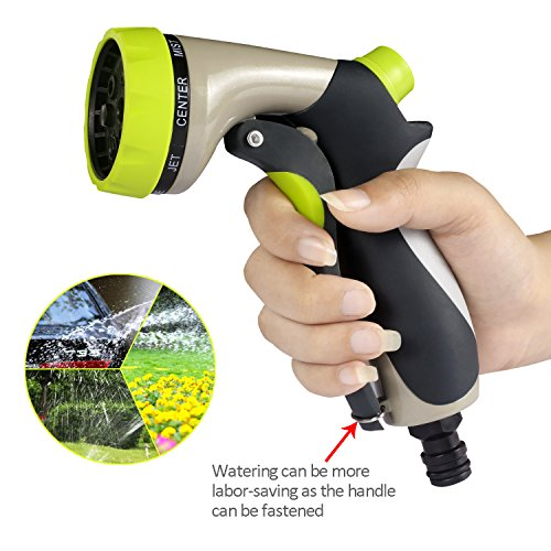 Taythi garden hose nozzle hand spray with washers